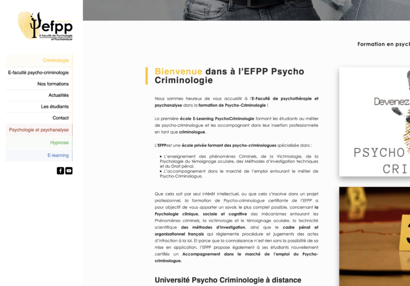 web content - efpp-criminologie- SC WEB SERVICES AS