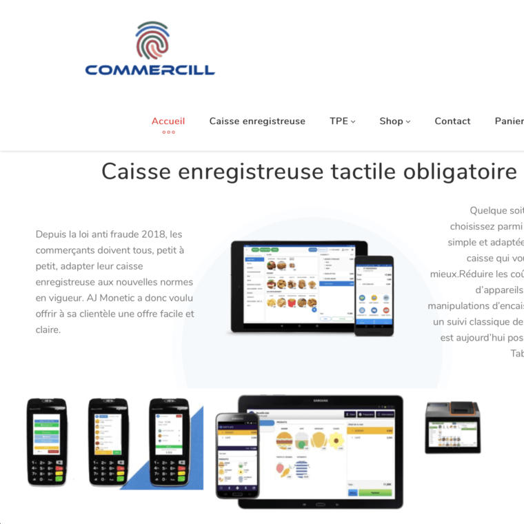 screenshot-homepage-Commercill made by SC Web Services AS